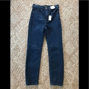 Slim ankle super high rise jeans